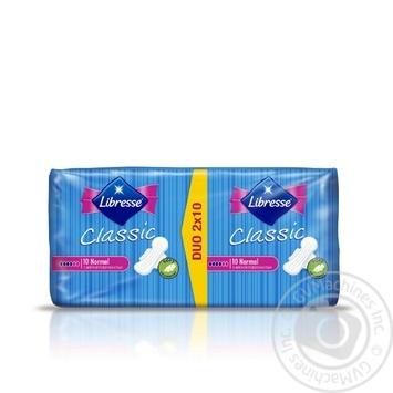 Прокладки гігієнічні Libresse Classic Normal 4краплі 20шт - купити, ціни на Ашан - фото 2