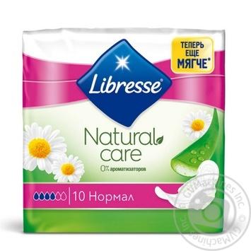 Прокладки гигиенические Libresse Natural Care Ultra Normal 10шт