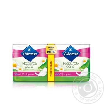 Прокладки гигиенические Libresse Natural Care Ultra Normal 4капли 20шт - купить, цены на МегаМаркет - фото 1