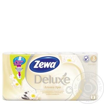 Туалетная бумага Zewa Deluxe Aroma Spa шампань трехслойная 8шт