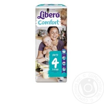 Подгузники Libero Comfort 4 7-11кг 54шт/уп