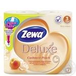 Туалетная бумага Zewa Deluxe Aqua Tube Cashmere Peach 3 слоя 4шт