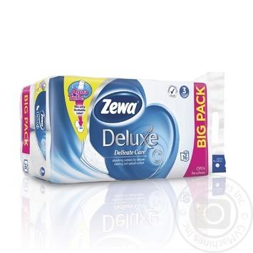 Zewa Deluxe white white 3-ply toilet paper 16pcs