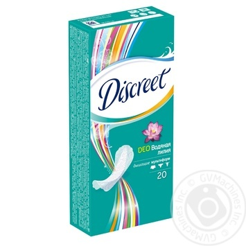 Ежедневные прокладки Discreet Deo Water Lily 20шт