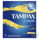 Tampons Tampax Compak regular single 8pcs