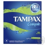 Tampons Tampax Compak Super Single with applicator 8pcs
