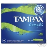 Tampons Tampax Compak Super with applicator 16pcs