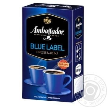Ambassador Blue Label ground coffee 250g - buy, prices for Novus - image 1