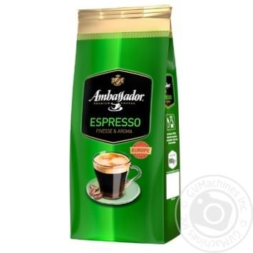 Кофе Ambassador Espresso в зернах 900г - купить, цены на Novus - фото 1