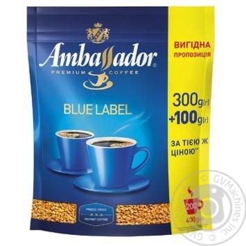 Кофе Ambassador Blue Label растворимый 400г - купить, цены на Novus - фото 1