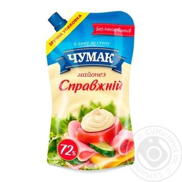 Майонез Чумак Настоящий 72% 350г - купить, цены на Novus - фото 1