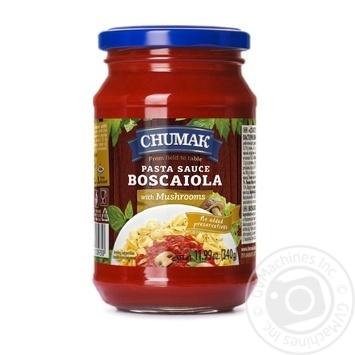 Соус Чумак Боскайола к спагетти с грибами 340г - купить, цены на Восторг - фото 1