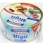 Seafood mussles Akvamaryn canned 185g