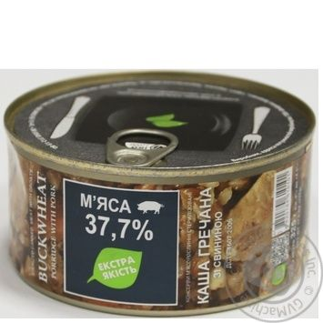 Pap Zdorovo buckwheat pork canned 325g