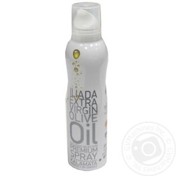 Олія оливкова нерафінована першого віджиму Каламата Іліада спрей 200мл