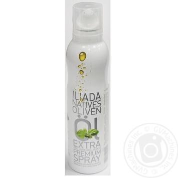 Олія оливкова нерафінована першого віджиму з ароматом базиліку Іліада спрей 200мл