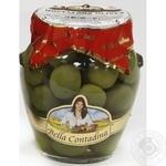 Оливки сорту Nocellara з кісточкою в розсолі консервовані Bella Contadina 314мл
