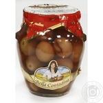 Оливки сорту Leccino з кісточкою в розсолі консервовані Bella Contadina314мл