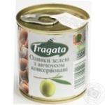 Оливки зелені з анчоусом консервовані пастеризовані Fragata 200г