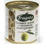 olive Fragata Private import with garlic canned 200g