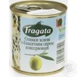 Оливки зелені з сиром консервовані пастеризовані Fragata 200г