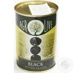 olive black pitted 280g can