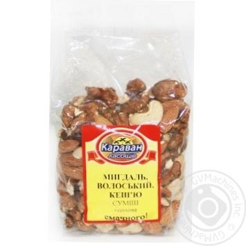 Смесь ореховая Караван Лакомств миндаль, грецкий, кешью 180г - купить, цены на Ашан - фото 1