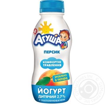 Йогурт детский Агуша персик с 8 месяцев 2.7% 200г