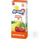Сок Агуша яблоко-вишня осветленный 0% 200мл