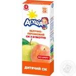 Сок Агуша яблоко-персик с мякотью 0% 200мл