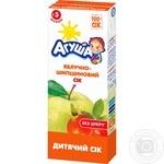 Сок Агуша яблоко-шиповник осветленный 0% 200мл