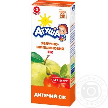 Сок Агуша яблоко-шиповник для детей с 5 месяцев 200мл