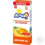 Agusha for children from 4 months multifruit juice 200ml
