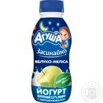 Йогурт дитячий Агуша Засинайко Яблуко-Меліса 2,7% 200г