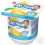 Cottage cheese Agusha pear for 6+ months babies 3.9%