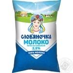 Молоко Слов'яночка пастеризованное 2.5% 870г