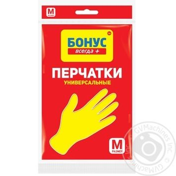 Rubber gloves Bonus size M Ukraine - buy, prices for CityMarket - photo 1