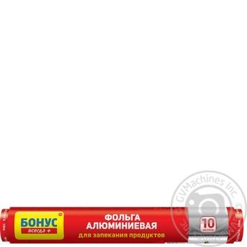 Фольга Бонус алюмінієва 10м шт - купити, ціни на МегаМаркет - фото 1