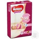 Трусики-подгузники Huggies Pants 3 58шт для девочек