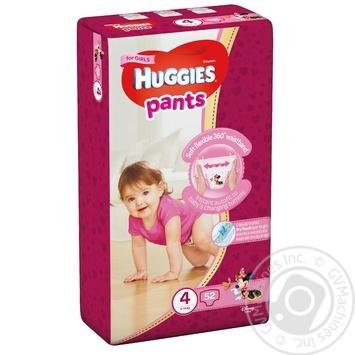 Трусики-підгузники Хаггіс 4 для дівчаток 9-14кг 52шт - купити, ціни на Ашан - фото 2