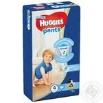 Трусики-підгузники Huggies Pants 4 52шт для хлопчиків