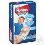 Подгузники-трусики Huggies для мальчиков 6 15-25кг 36шт