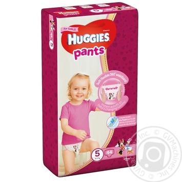 Трусики-подгузники Huggies Pants 5 для девочек 12-17кг  44шт