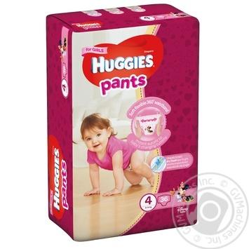 Подгузники-трусики Huggies для девочек 4 9-14кг 36шт