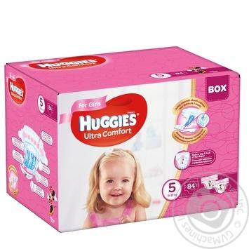Підгузки Huggies Box UltraComfort д/дів5 12-22кг 84шт/уп