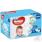 Подгузники Huggies Box UltraComfort д/мал 4 7-16кг 96шт/уп