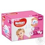 Подгузники Huggies Box UltraComfort д/дев 4 7-16кг 96шт/уп