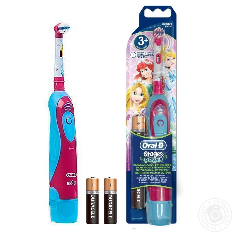 Електрична зубна щітка Oral-B Stages Power Дитяча на батарейках 1шт ... a26fc48f05c65
