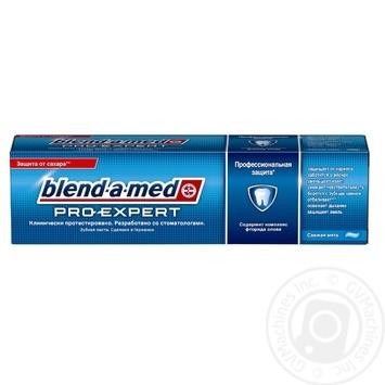 Зубная паста Blend-A-Med Pro-Expert Профессиональная защита Свежая Мята 100мл - купить, цены на Ашан - фото 1