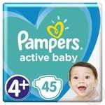 Подгузники Pampers Active Baby 4+ 10-15кг 45шт